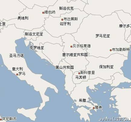 塞尔维亚位置示意图,塞尔维亚地图高清中文版