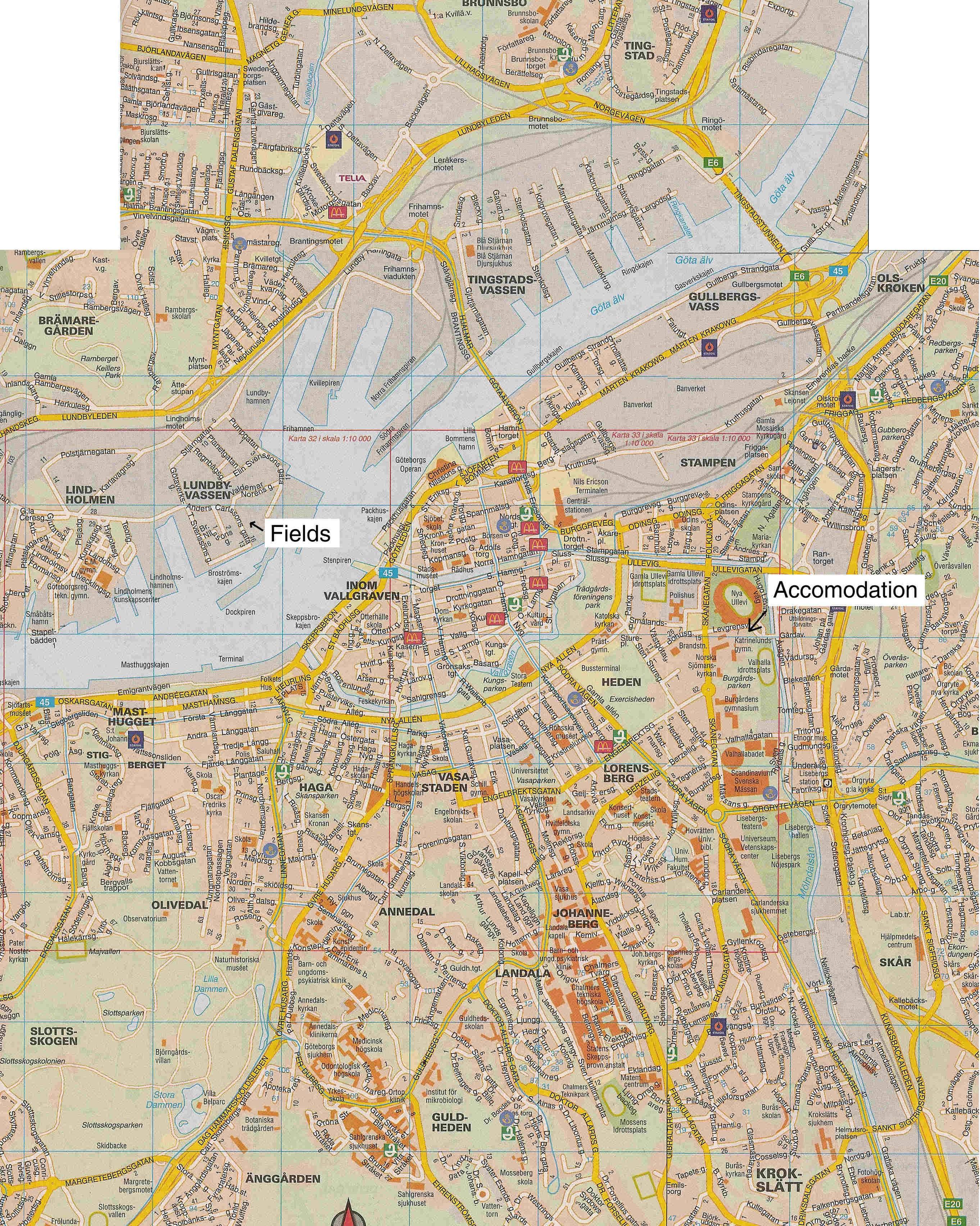瑞典越特堡地图,瑞典地图高清中文版