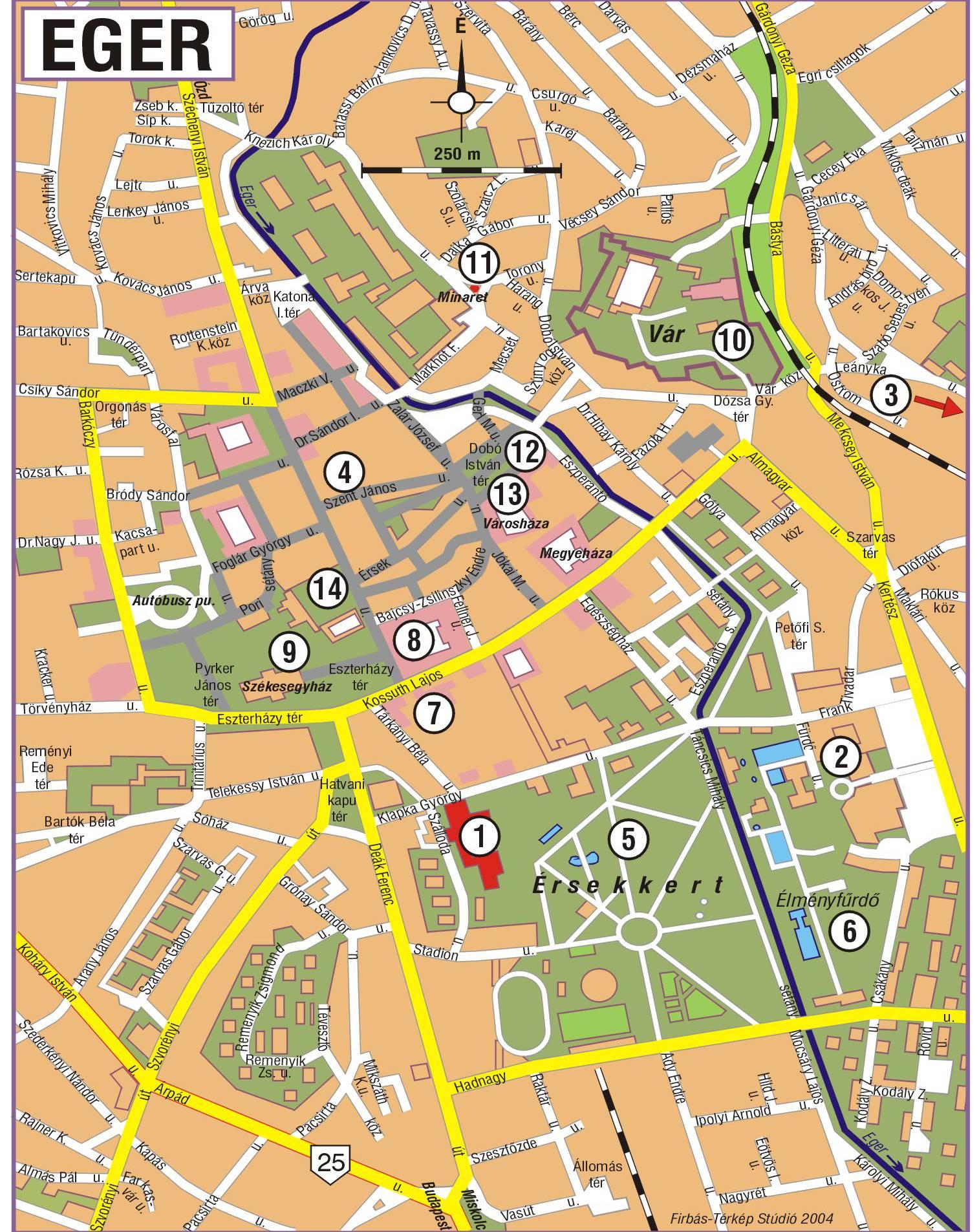 匈牙利艾格爾地图,匈牙利地图高清中文版