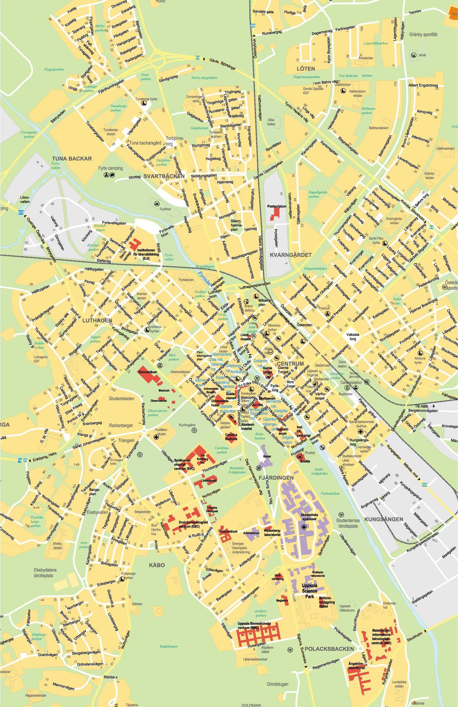 瑞典烏普沙拉地图,瑞典地图高清中文版