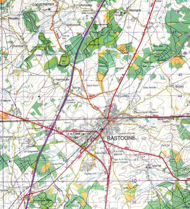 比利时巴斯通地图,比利时地图高清中文版