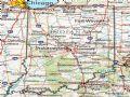 美国Idiana州地形交通图